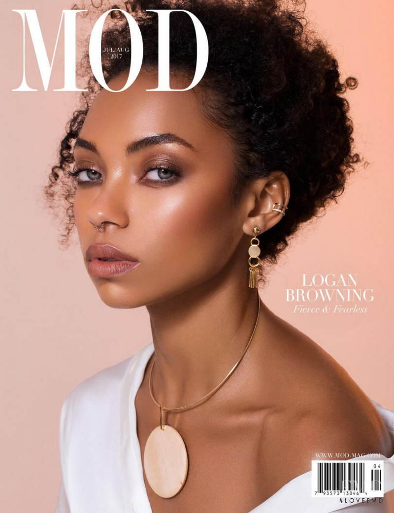 Logan Browning featured on the MOD cover from July 2017