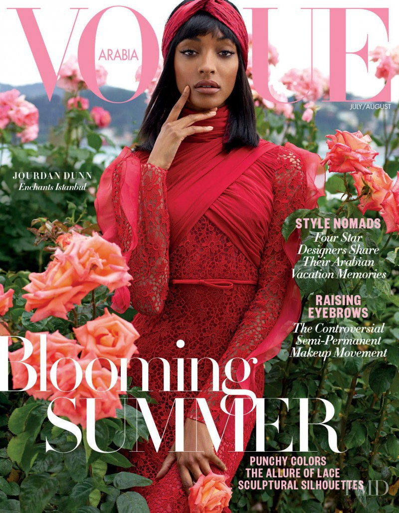 Jourdan Dunn featured on the Vogue Arabia cover from July 2017