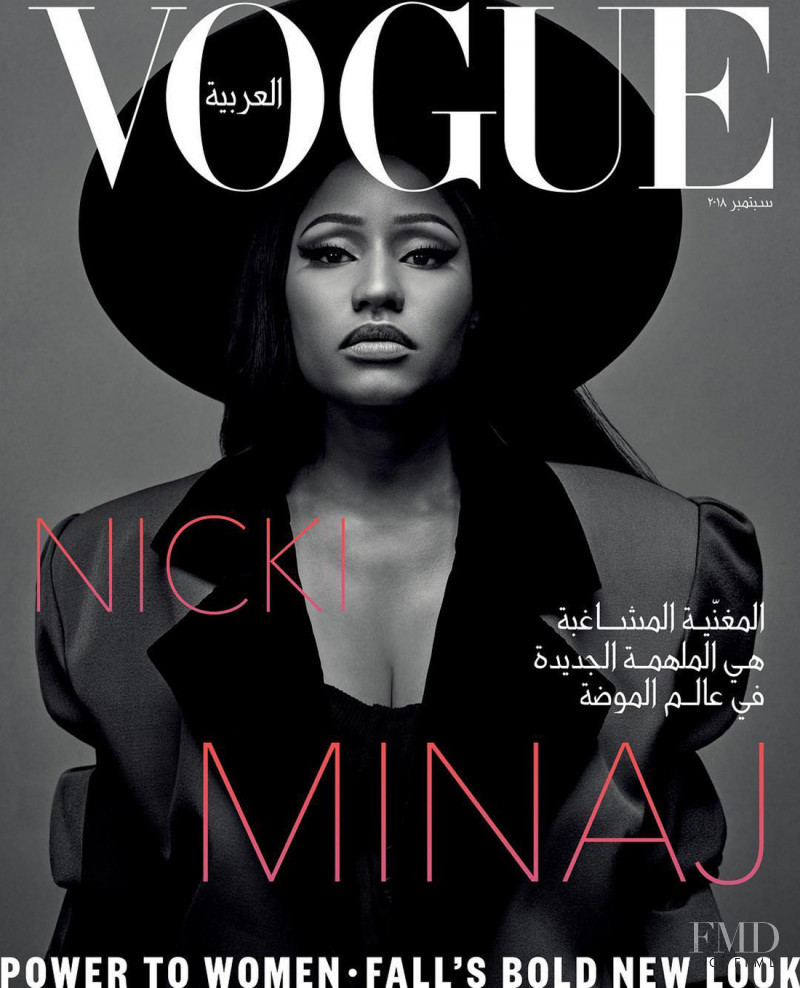 Nicki Minaj  featured on the Vogue Arabia cover from September 2018