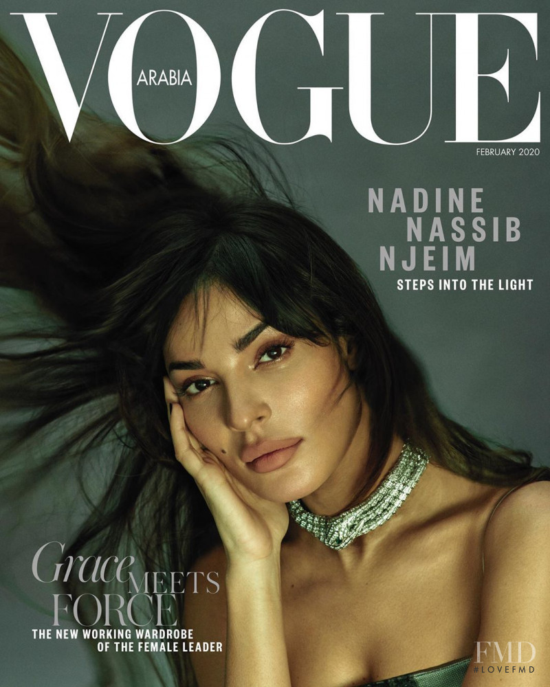 Nadine Nassib Njeim featured on the Vogue Arabia cover from February 2020