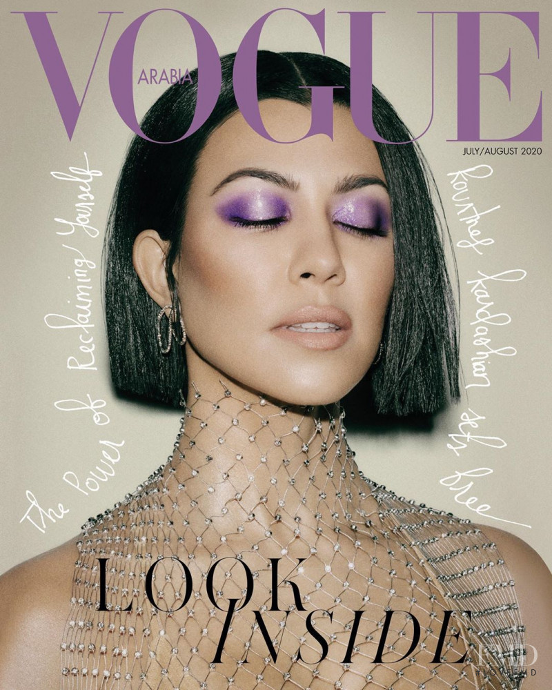 Kourtney Kardashian featured on the Vogue Arabia cover from July 2020