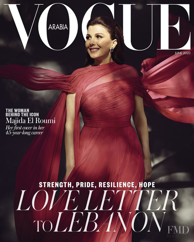 Majida El Roumi featured on the Vogue Arabia cover from June 2020