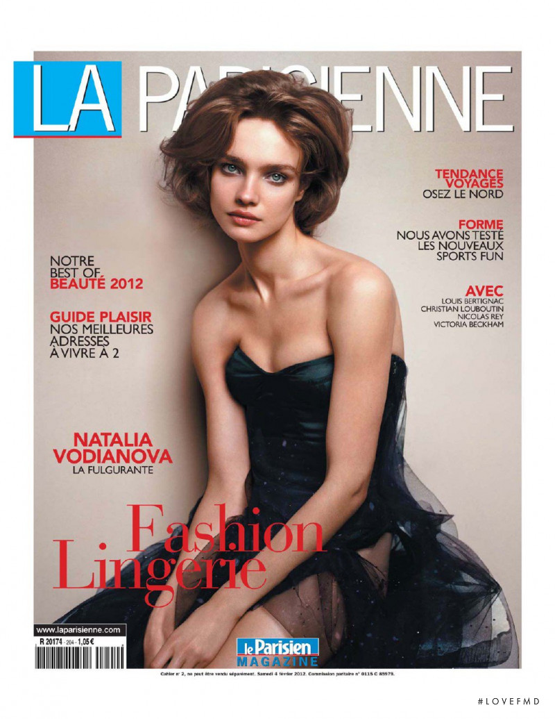 Natalia Vodianova featured on the La Parisienne cover from February 2012