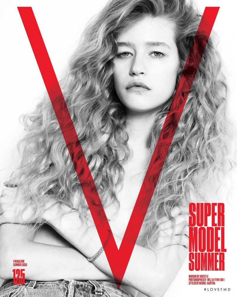 Mariam De Vinzelle featured on the V Magazine cover from May 2020
