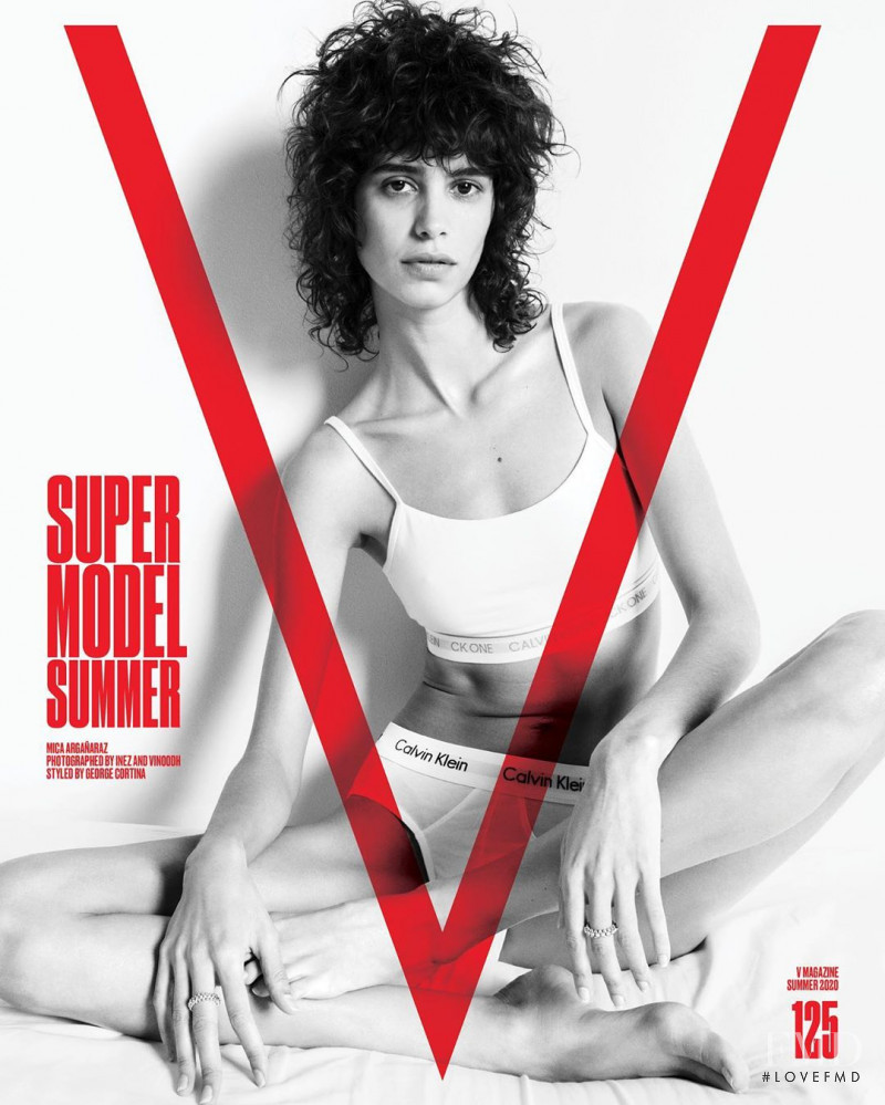 Mica Arganaraz featured on the V Magazine cover from May 2020