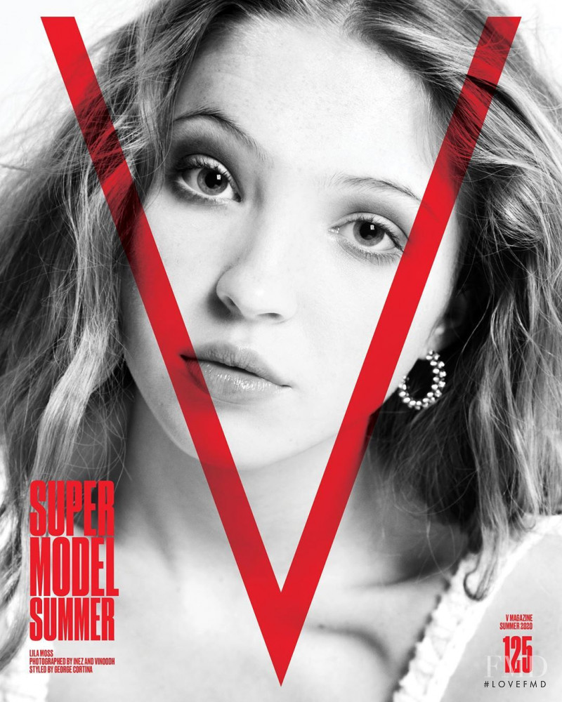 Lila Grace Moss featured on the V Magazine cover from May 2020
