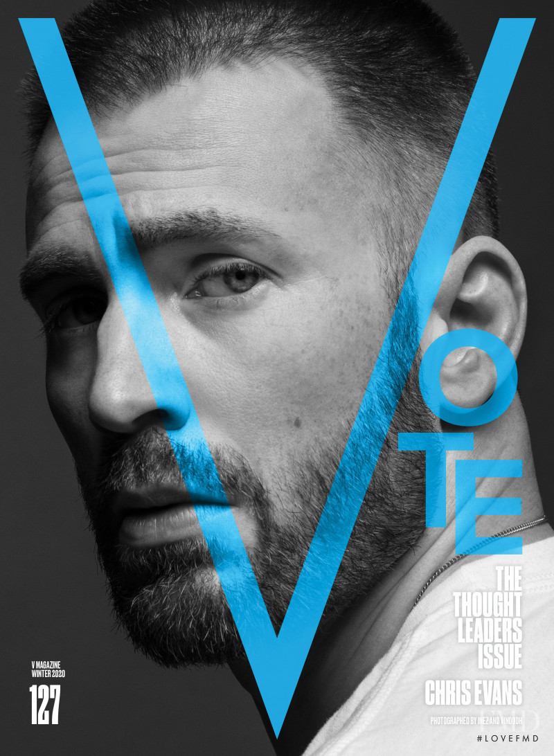 Chris Evans featured on the V Magazine cover from November 2020