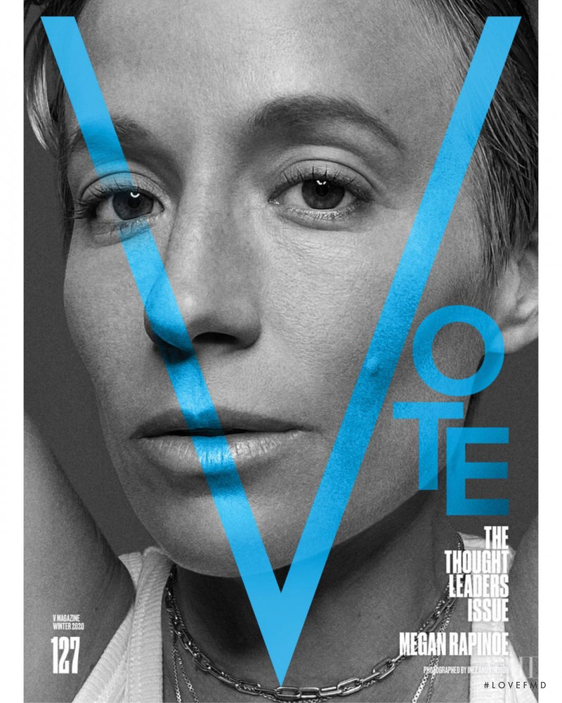 Megan Rapinoe featured on the V Magazine cover from November 2020