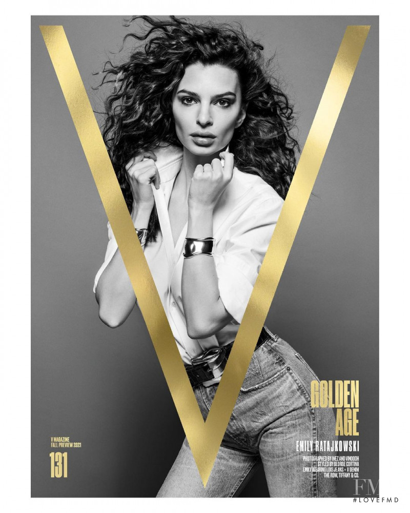 Emily Ratajkowski featured on the V Magazine cover from July 2021