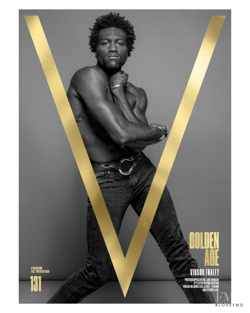 Vinson Fraley featured on the V Magazine cover from July 2021