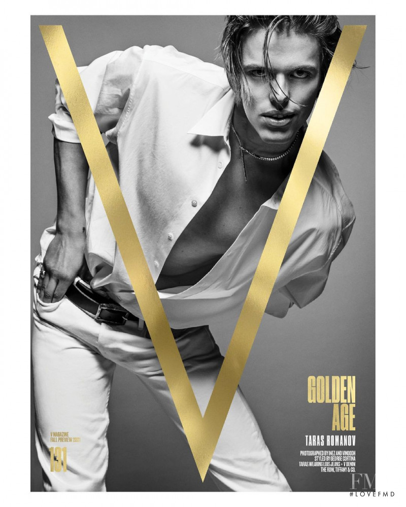 Taras Romanov featured on the V Magazine cover from July 2021