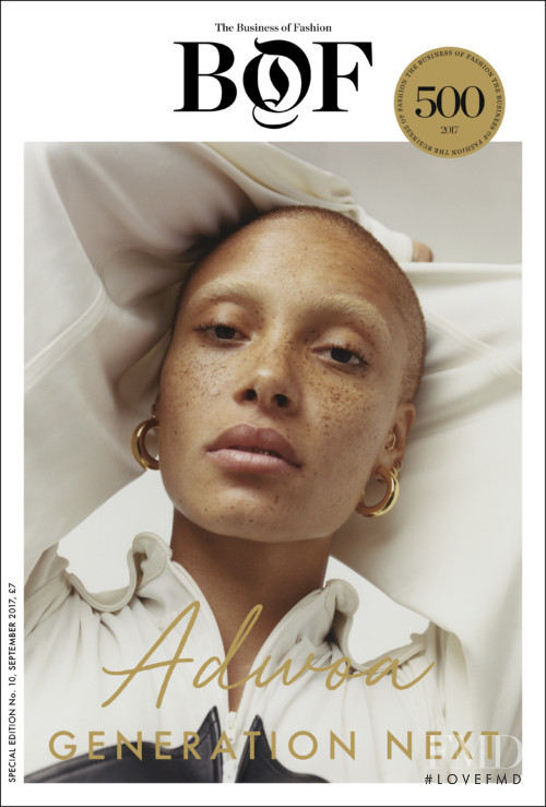 Adwoa Aboah featured on the Business of Fashion cover from September 2017