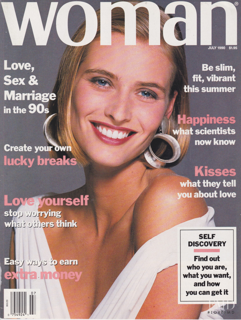 Cathy Fedoruk featured on the Woman USA cover from July 1990