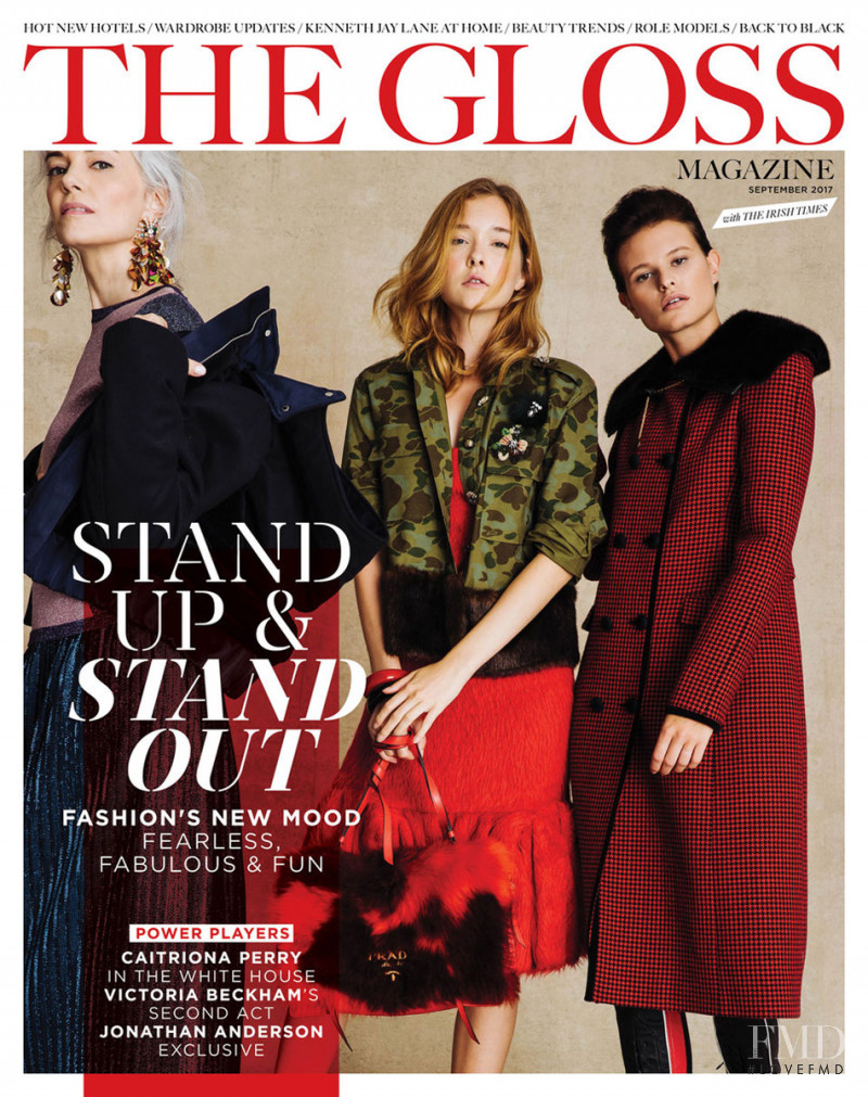 Cordelia Dietrich featured on the The Gloss cover from September 2017