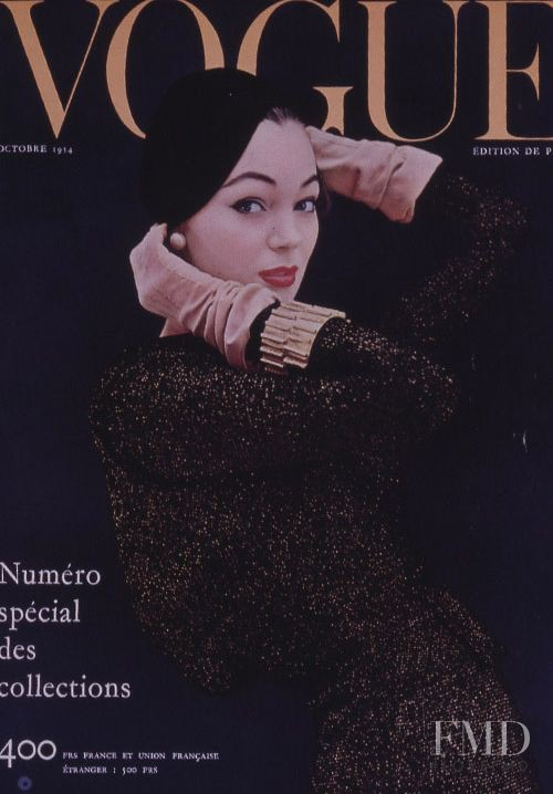 featured on the Vogue Paris cover from October 1954