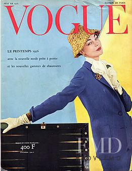 featured on the Vogue Paris cover from February 1956