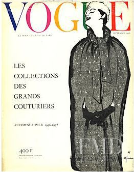 featured on the Vogue Paris cover from September 1956
