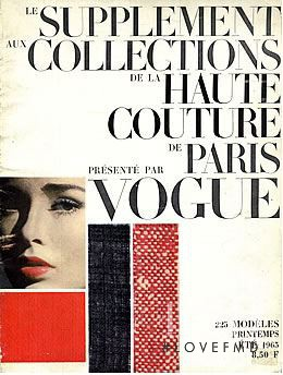 featured on the Vogue Paris cover from August 1963