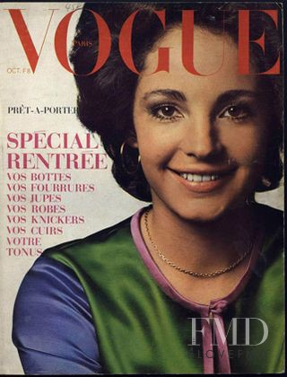 Alexandra Schoenburg featured on the Vogue Paris cover from October 1970