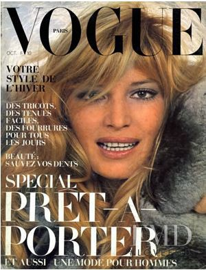 featured on the Vogue Paris cover from October 1972