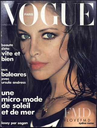 Sydne Rome featured on the Vogue Paris cover from June 1975