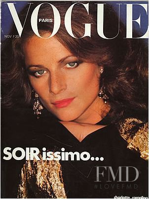 Charlotte Rampling featured on the Vogue Paris cover from November 1976