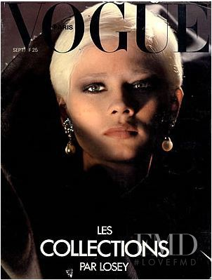 featured on the Vogue Paris cover from September 1977