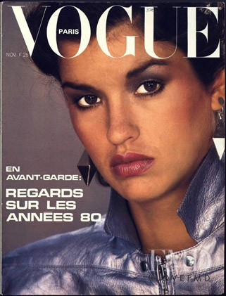 featured on the Vogue Paris cover from November 1979