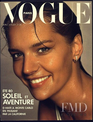 featured on the Vogue Paris cover from June 1980