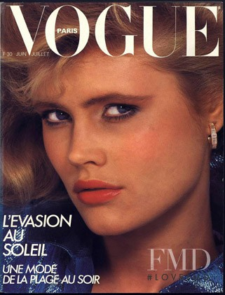 Eva Johnson featured on the Vogue Paris cover from June 1982