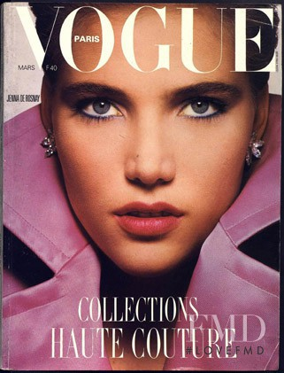 Jenna de Rosnay featured on the Vogue Paris cover from March 1985