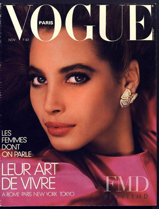 Christy Turlington featured on the Vogue Paris cover from November 1986