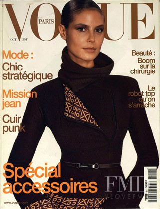 Heidi Klum featured on the Vogue Paris cover from October 2000