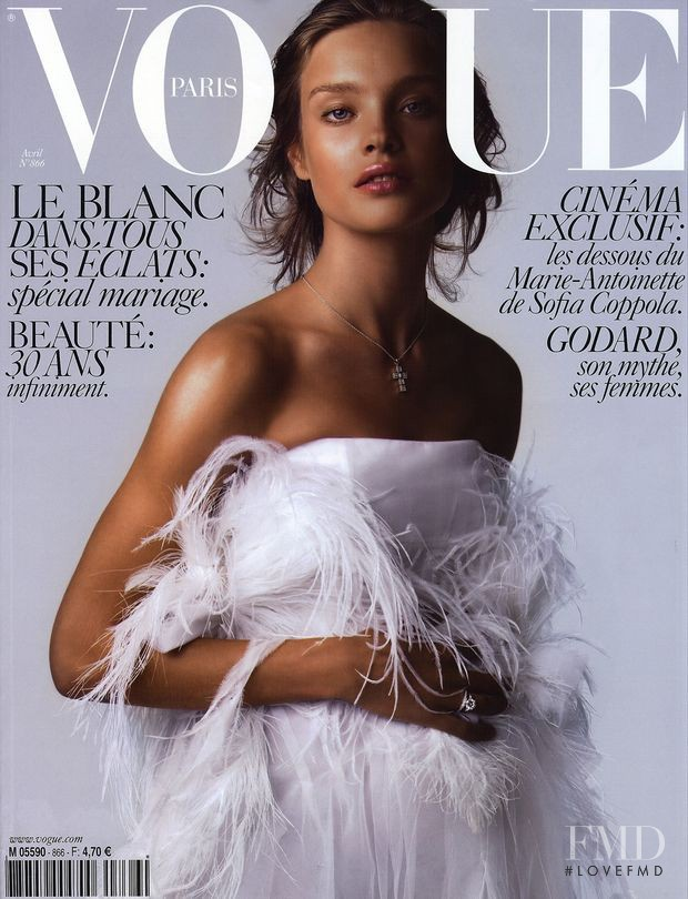 Natalia Vodianova featured on the Vogue Paris cover from April 2006