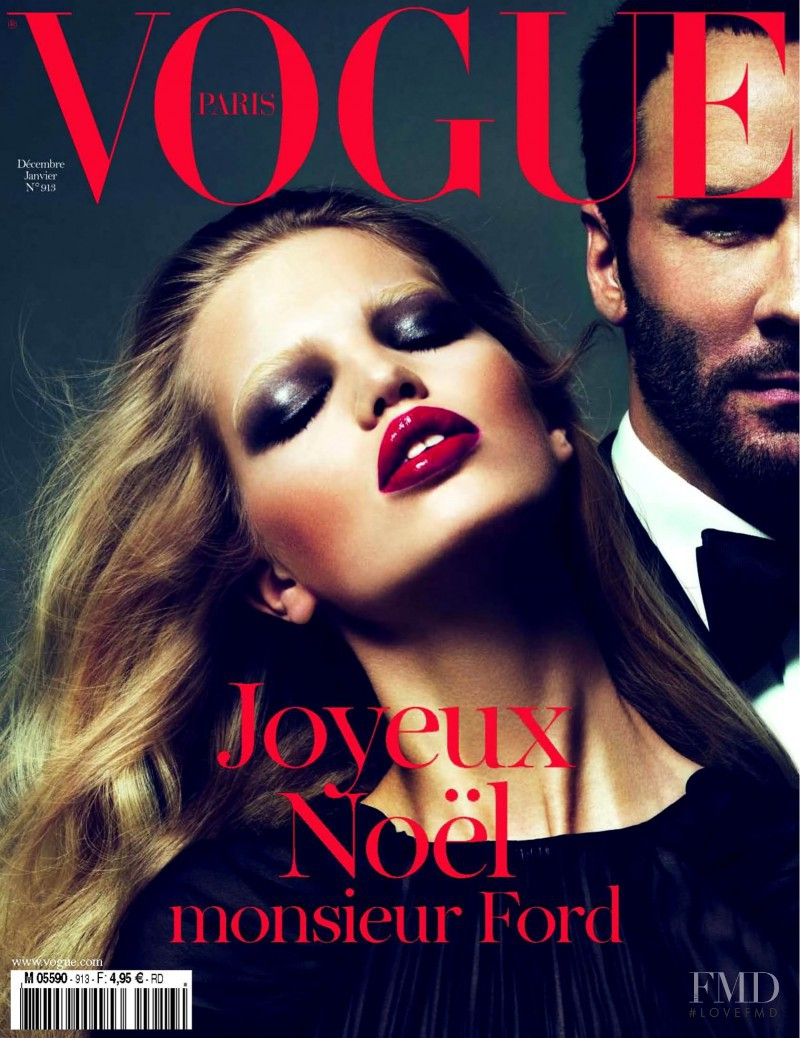 Daphne Groeneveld featured on the Vogue Paris cover from December 2010