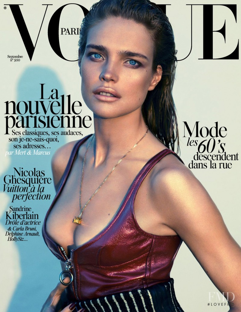 Natalia Vodianova featured on the Vogue Paris cover from September 2014