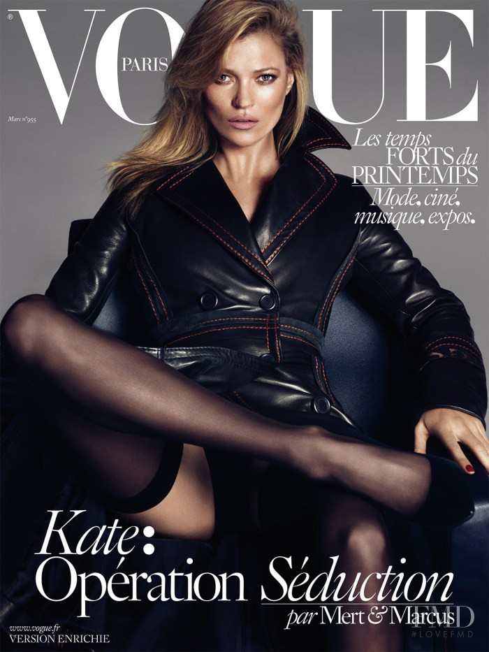 Kate Moss featured on the Vogue Paris cover from March 2015