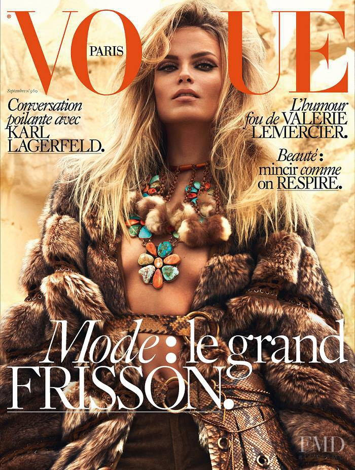 Natasha Poly featured on the Vogue Paris cover from September 2015