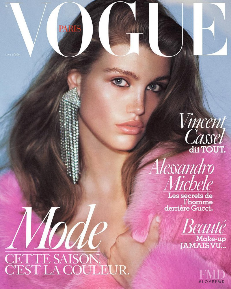 featured on the Vogue Paris cover from August 2016