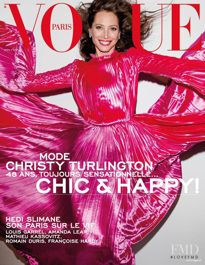 Christy Turlington featured on the Vogue Paris cover from April 2017