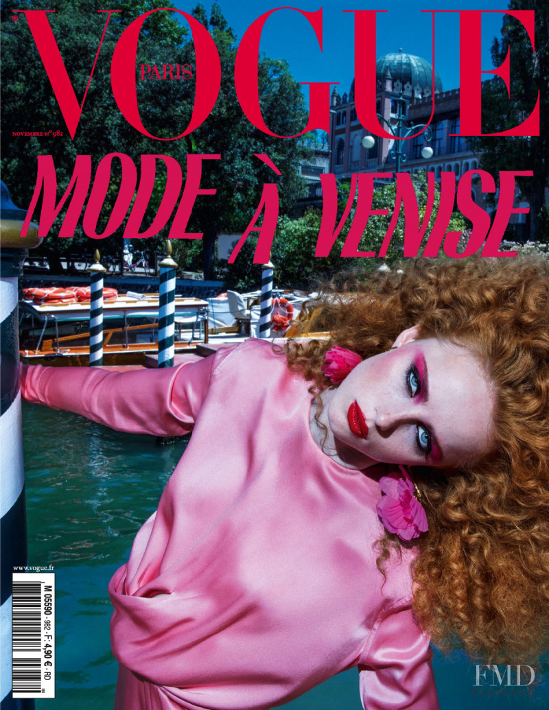 Rianne Van Rompaey featured on the Vogue Paris cover from November 2017