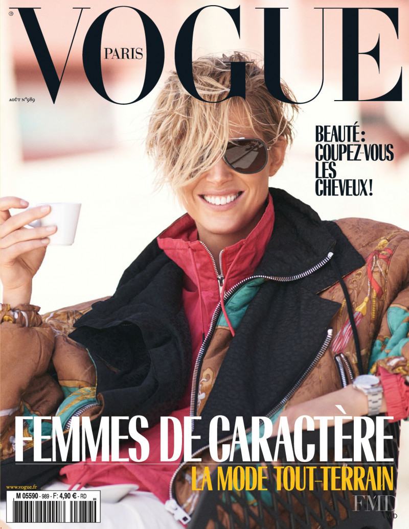 Iselin Steiro featured on the Vogue Paris cover from August 2018