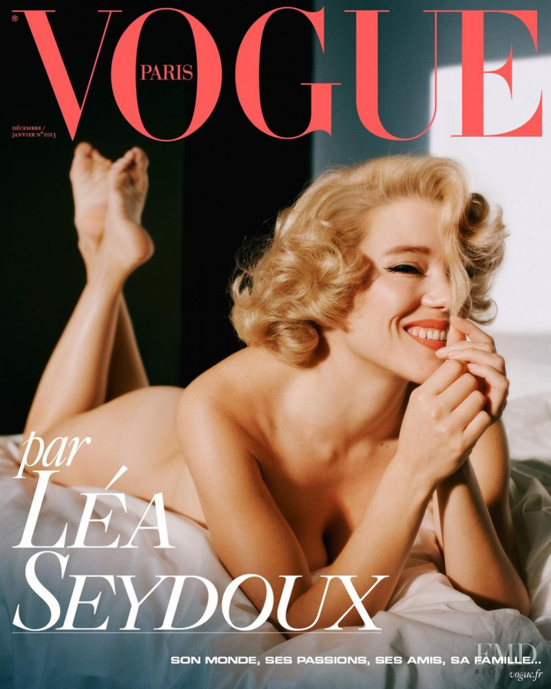 Lea Seydoux  featured on the Vogue Paris cover from December 2020
