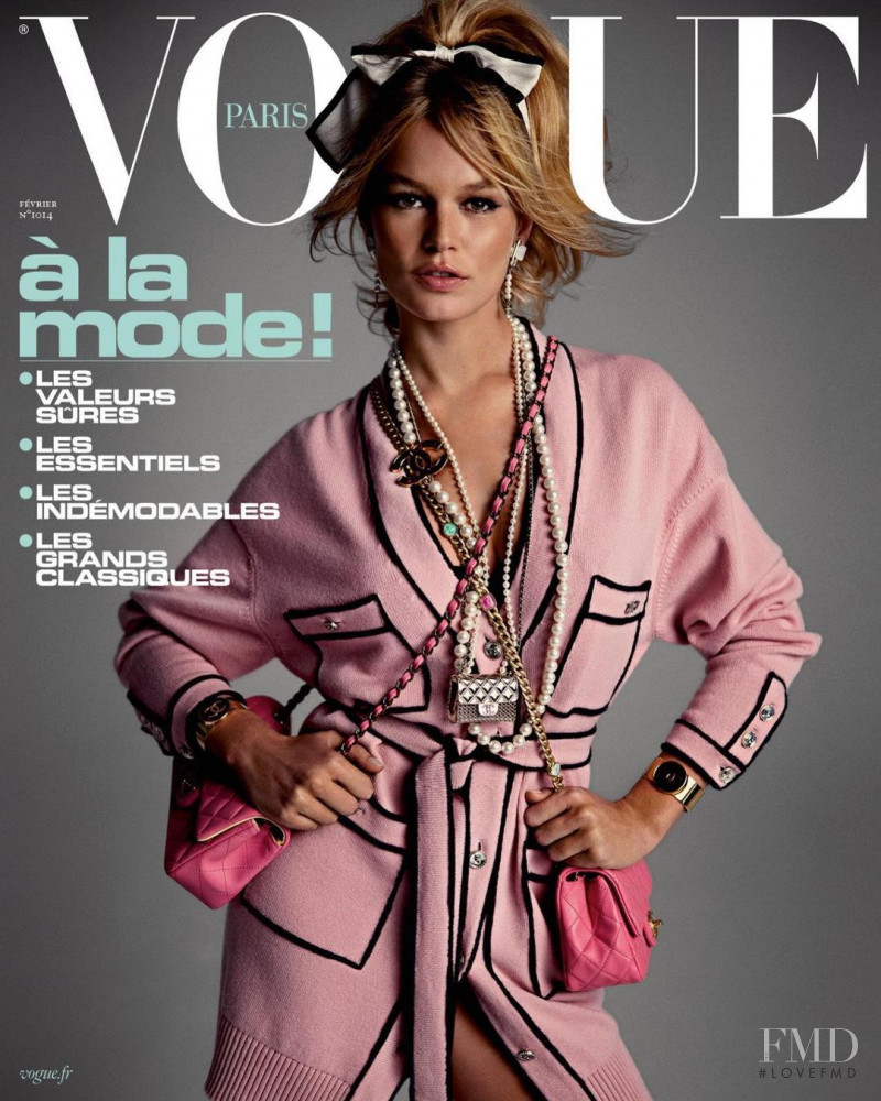 Anna Ewers featured on the Vogue Paris cover from February 2021