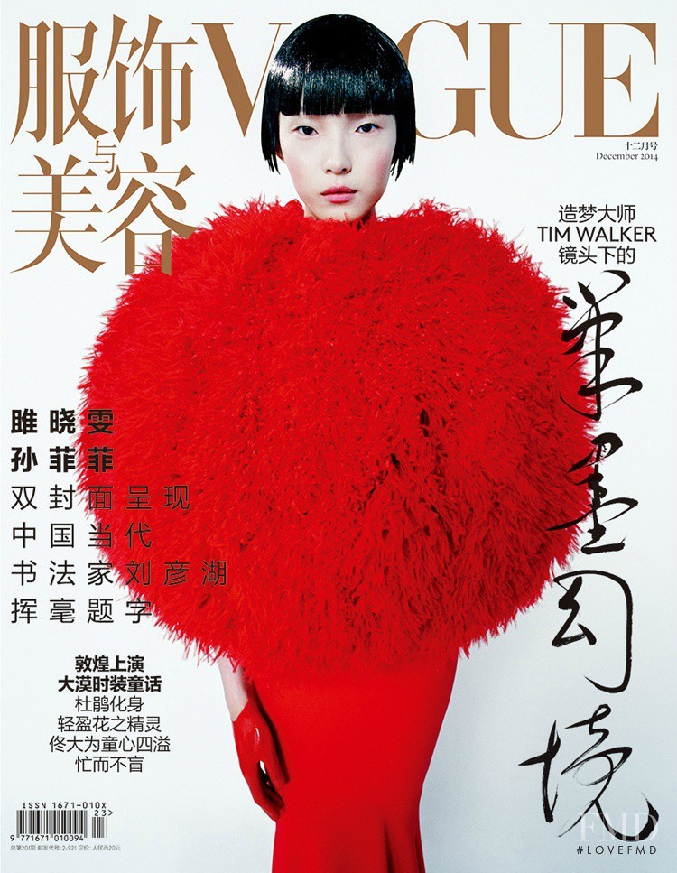 Xiao Wen Ju featured on the Vogue China cover from December 2014