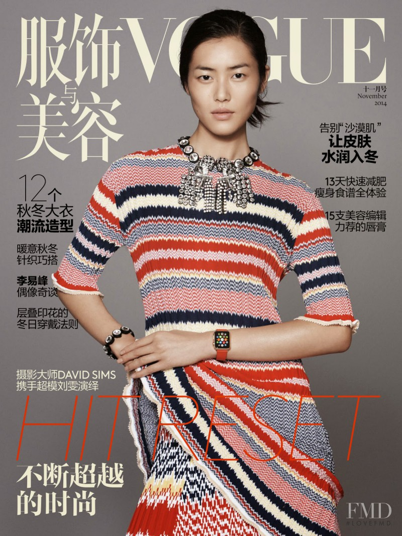 Liu Wen featured on the Vogue China cover from November 2014