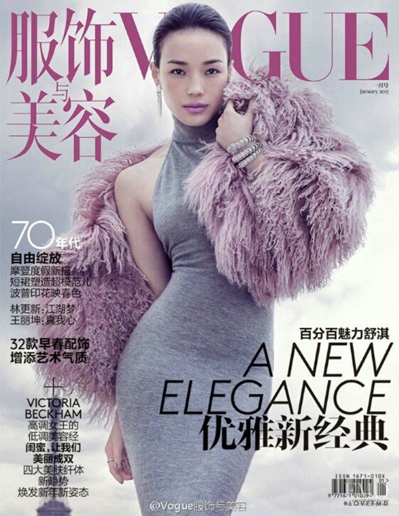 Shu Qi featured on the Vogue China cover from January 2015