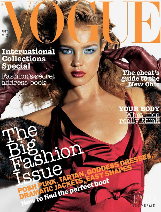Natalia Vodianova featured on the Vogue UK cover from September 2003