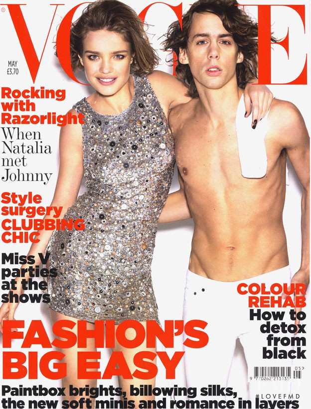 Natalia Vodianova featured on the Vogue UK cover from May 2007