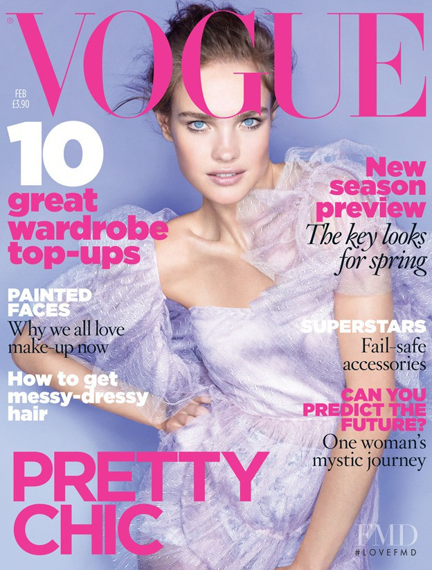 Natalia Vodianova featured on the Vogue UK cover from February 2010